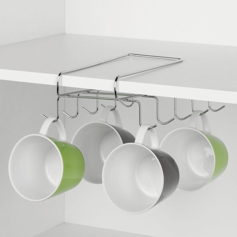 Details zu Tassenhalter für Regalboden, chrom, Halter für Tassen ...