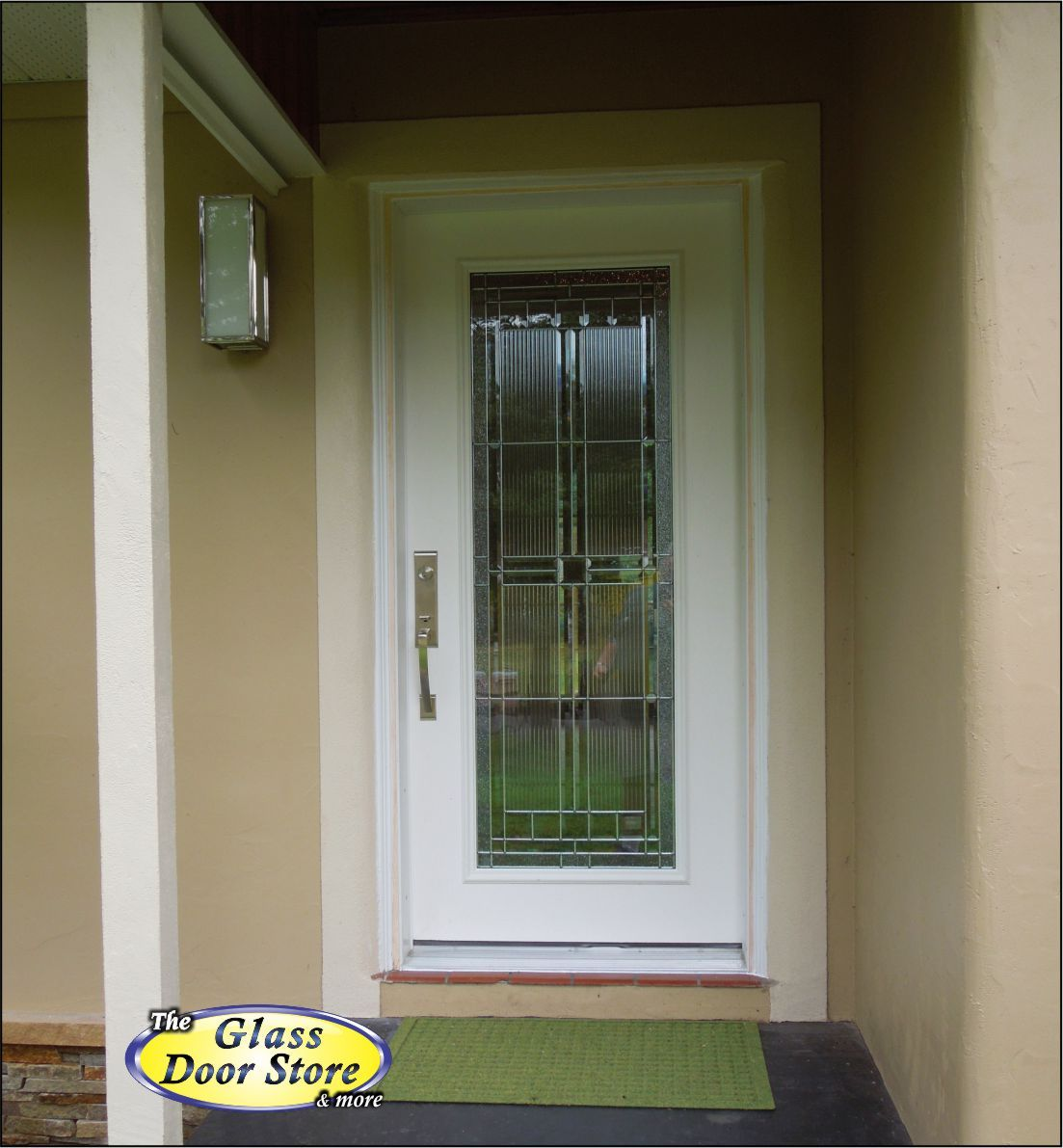 single front doors with glass. A New Single Front Door With Modern Glass Insert. Doors
