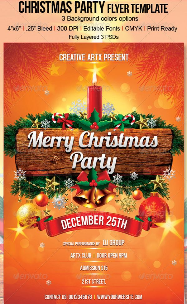 100+ Search Christmas Flyer PSD Design Templates | Christmas party ...