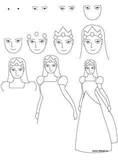 Dessin princesse animaux pinterest prince dessin et tv - Comment dessiner princesse ...