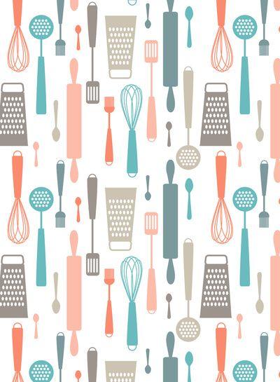 Kitchen Utensils Art Print Graphic In 2019 Kitchen Utensil