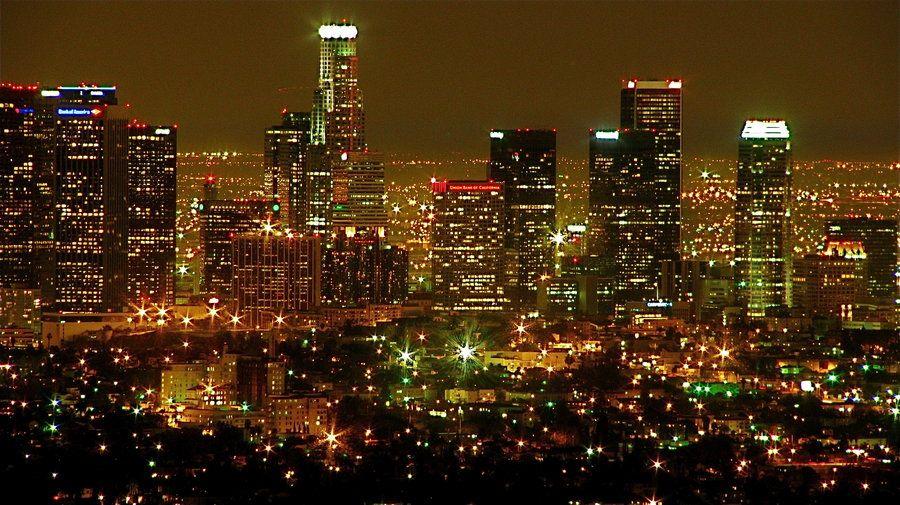 night skyline view of - photo #19
