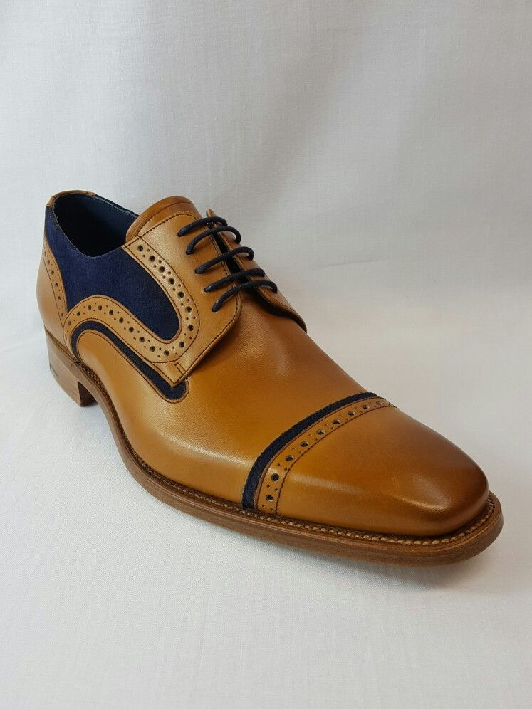 Mens Tan And Blue Suede Shoe Barker Shoes Wedding Business Supplied Cliftonsuits Bristol Menswear