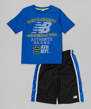 Loving this Royal Blue & Black Tee & Shorts - Infant & Boys on #zulily! #zulilyfinds