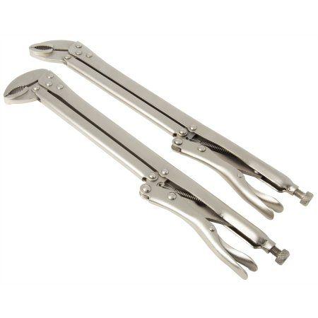 Steelman 99591 2 Piece Extended Reach 15 Inch Locking Plier Set Walmart Com Homemade Tools Pliers Cool Tools
