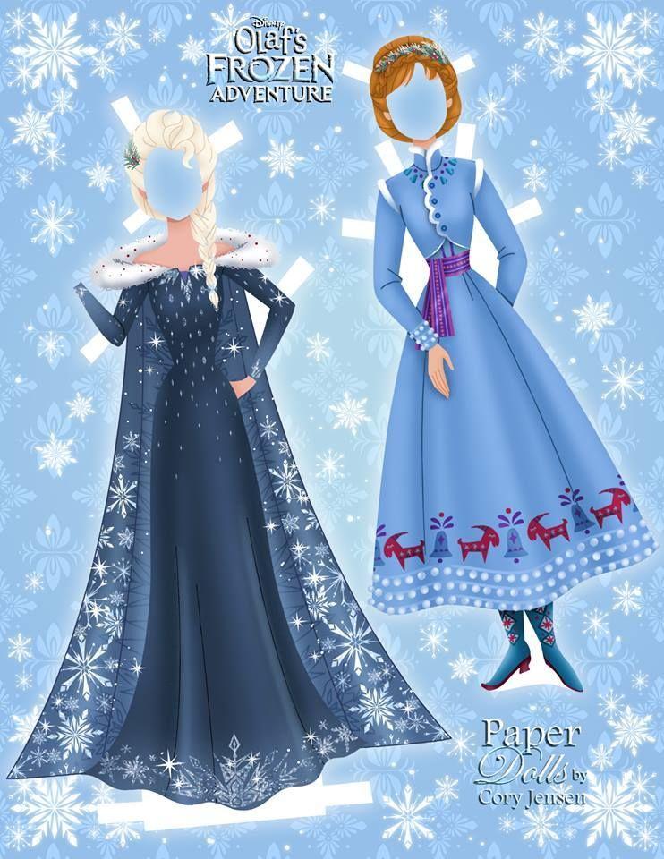 Disney S Frozen Printable Paper Dolls Skgaleana In 2020 Paper Dolls Printable Frozen Paper Dolls Paper Dolls