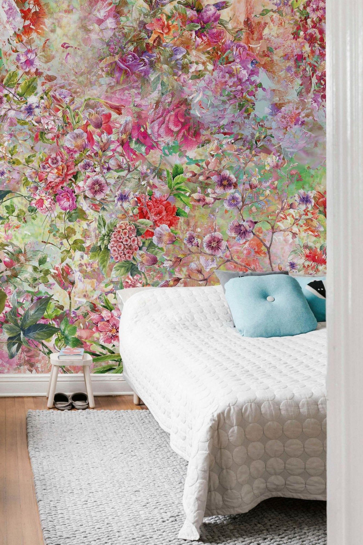 Fototapete »Flower Power«, living walls, matt, floral 24 tlg ...
