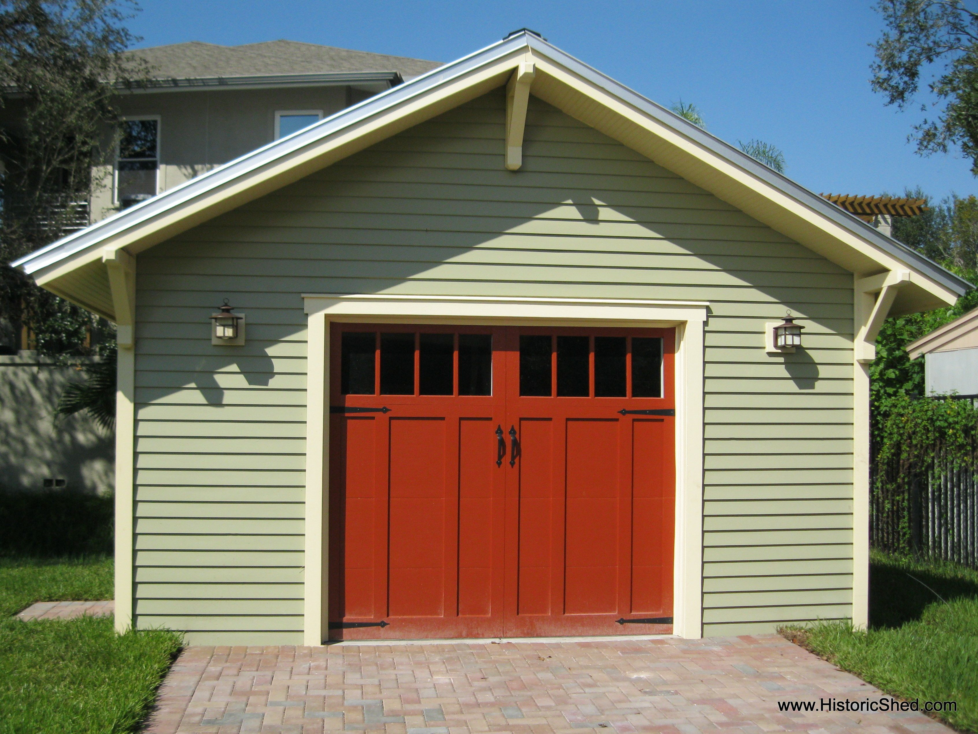 One Car Garages Historic Shed Garage Plans Detached Garage Door Design Craftsman Style House Plans