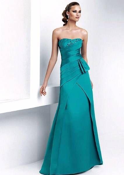 Imagenes de vestidos de noche azul turquesa