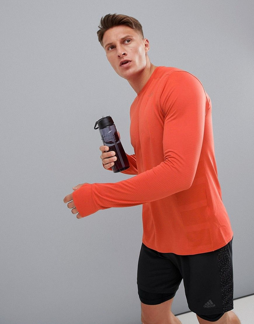 adidas Supernova Long Sleeve Mens Running Top Red