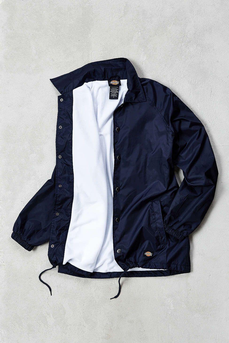 outlet store edbb7 34190 Dickies Snap Front Nylon Coaches Jacket