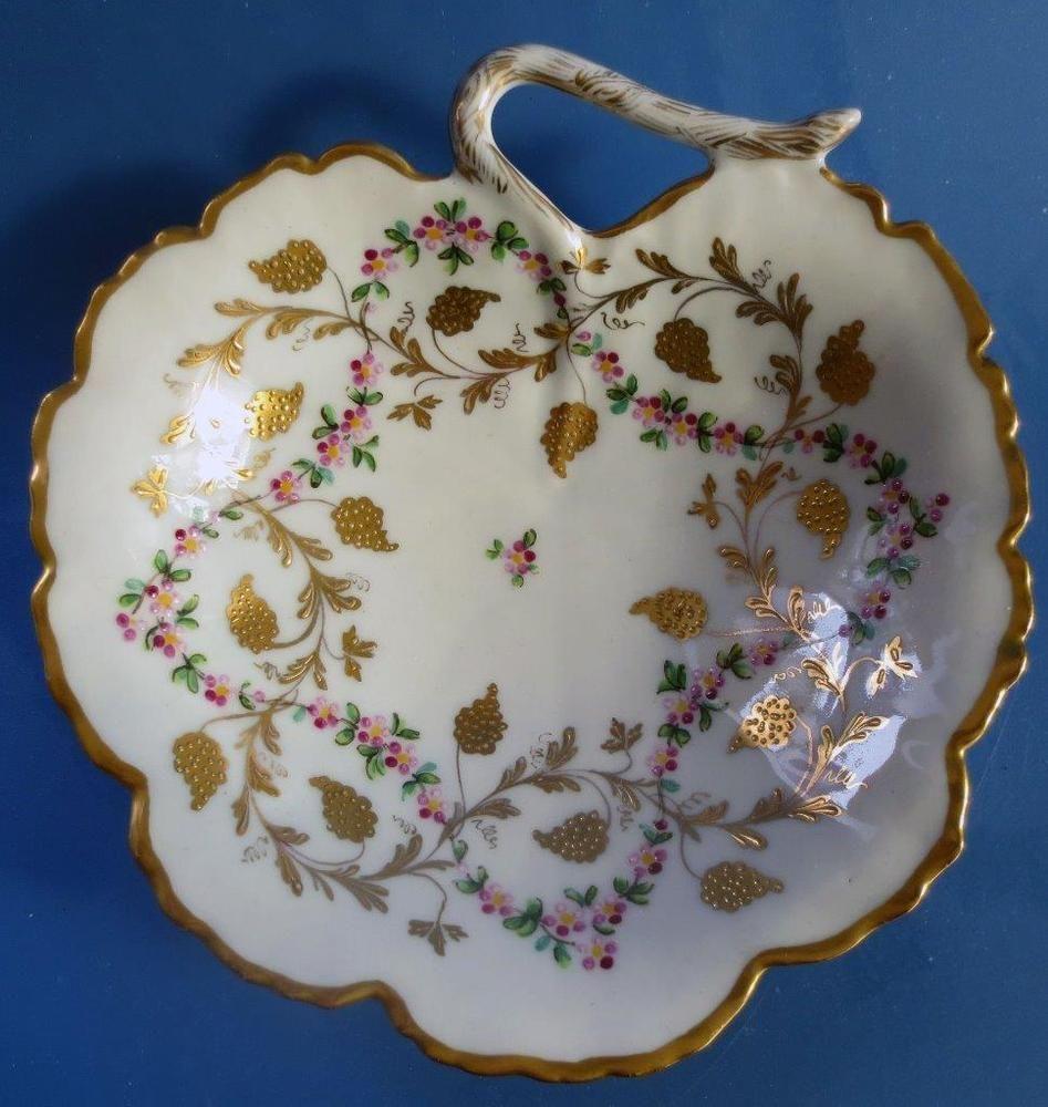High Quality Exquisite Le Tallec Limoges French Porcelain Leaf Dish Vintage Ideas