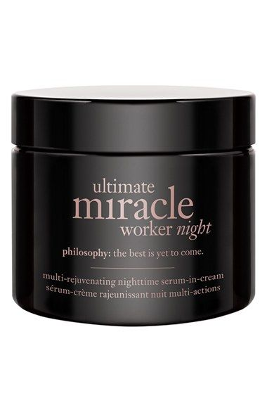 Philosophy Ultimate Miracle Worker Night Multi Rejuvenating Nighttime Serum In Cream Nordstrom Drug Store Face Moisturizer Face Care Acne Philosophy Skin Care