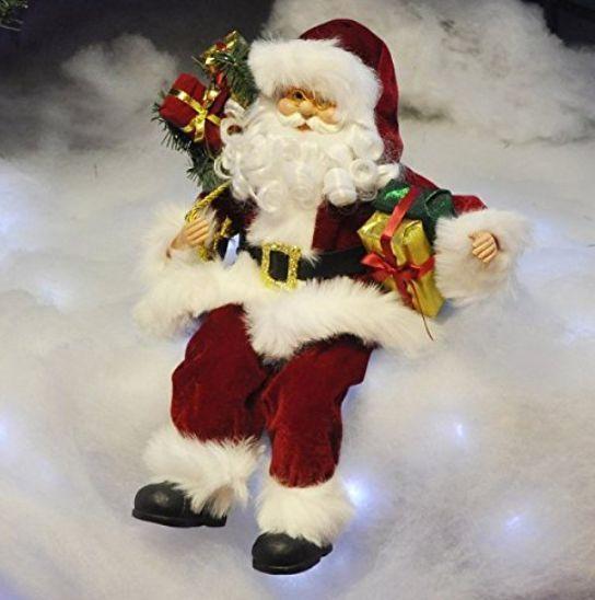 large santa claus figure christmas ornament plush sitting father xmas decorati view - Christmas Decorations Large Santa Claus