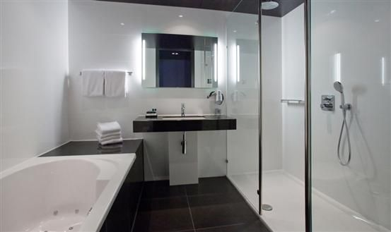 Our bathroom in Hotel van der Valk in Assen. Maybe an idea for the ...