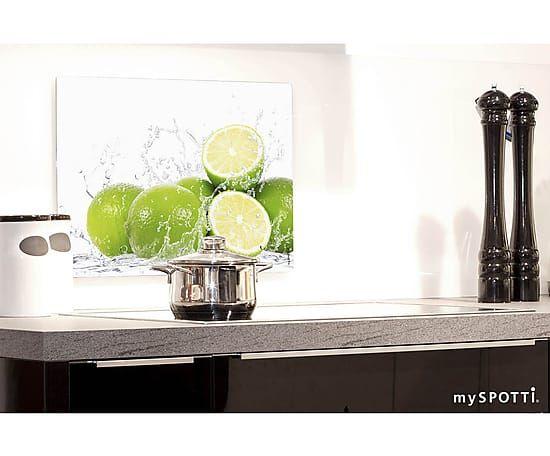 Wand-Spritzschutz Limetten, 41 x 59 cm myspotti Küche kitchen - küche spritzschutz wand