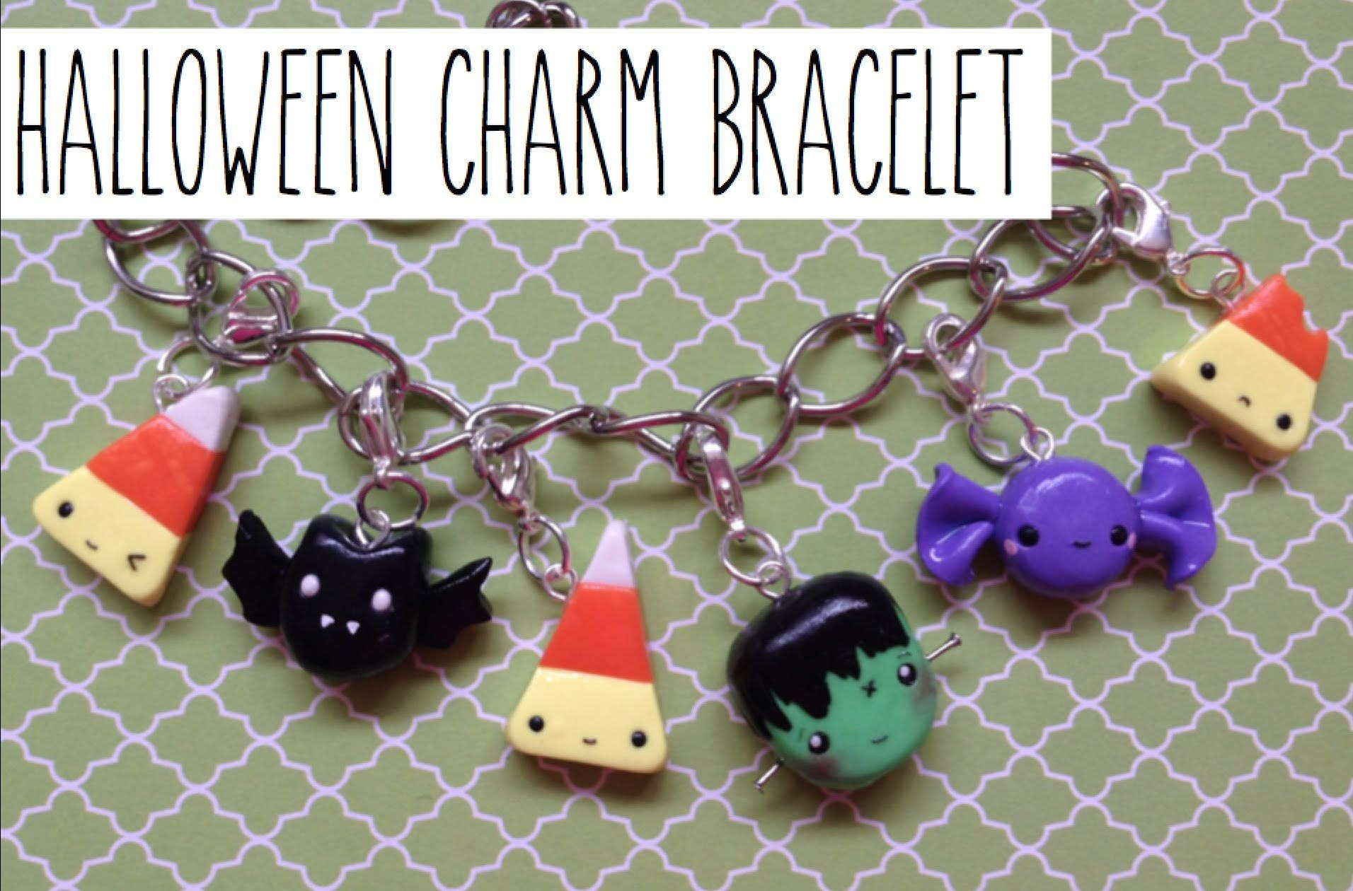 tutorial: polymer clay halloween charm bracelet: collab with