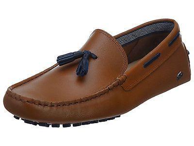 bb989c9435f07c Lacoste Concours Tassle 8 Mens 7-30SRM0003-013 Tan Slip On Loafers Shoes Sz  9.5