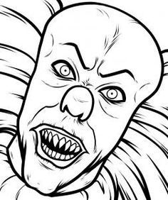 How To Draw Pennywise Step 8 When Everything Is All Cleaned Up You Have Yourself An Awesome Drawing Scary Drawings Scary Coloring Pages Scary Clown Drawing