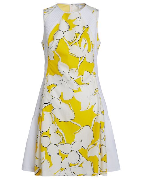 Diane von furstenberg kleid gelb