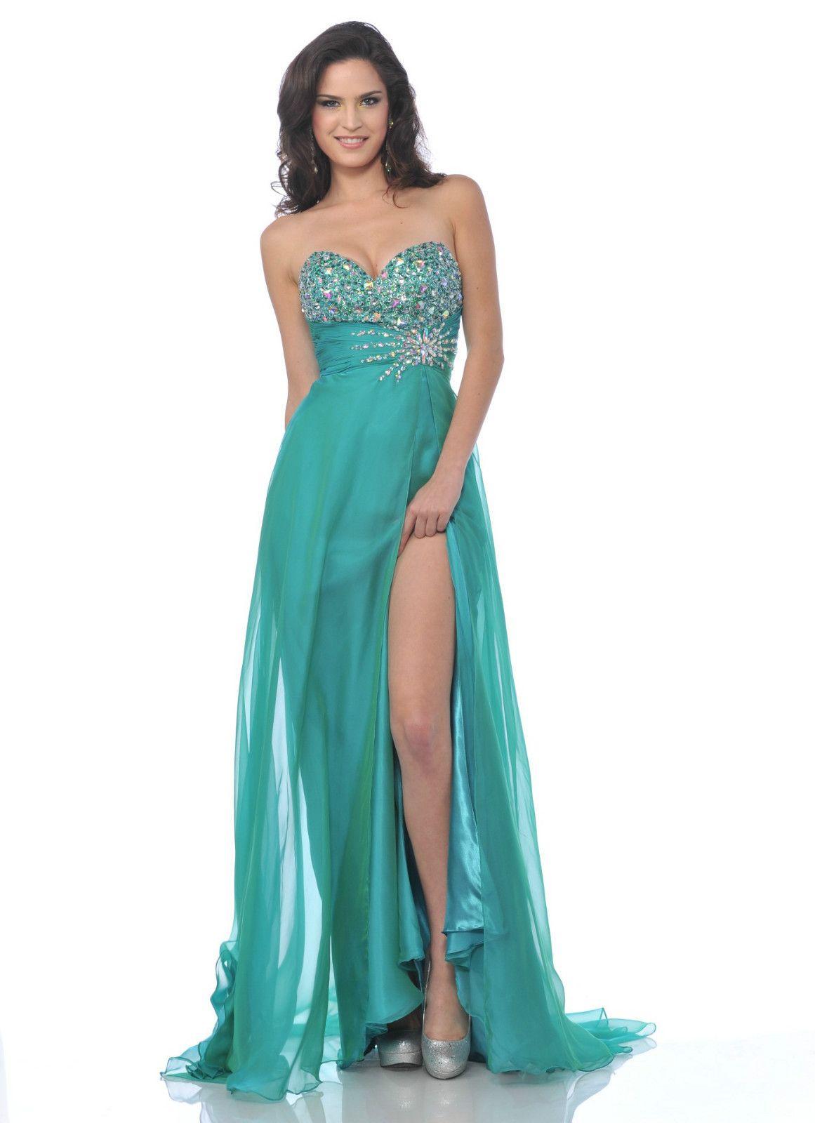 Beautiful Elegant Long Formal Gown Prom Fashionable Bridesmaid ...