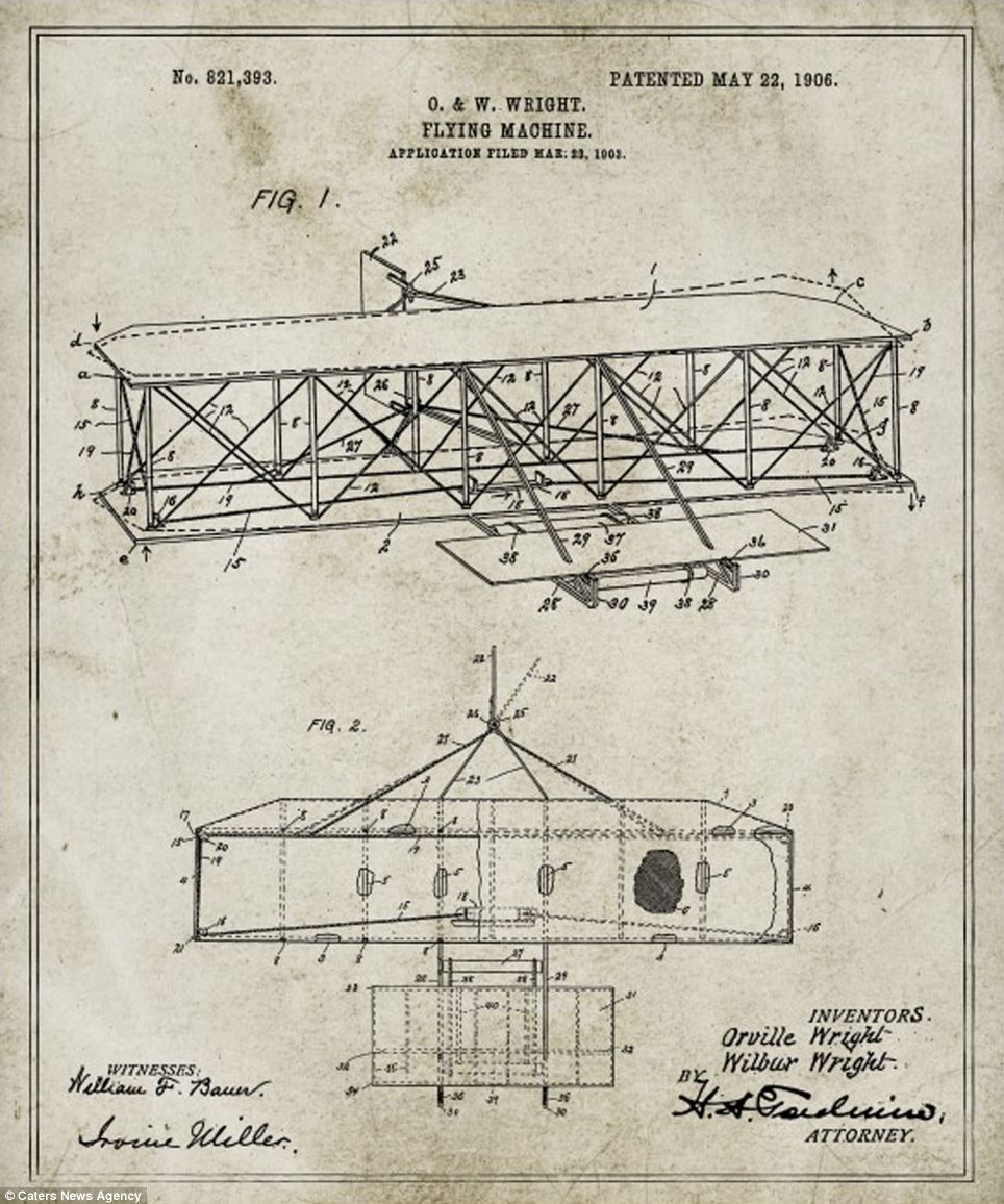 Blueprints show inner workings of some famous inventions wright blueprints show inner workings of some famous inventions malvernweather Images