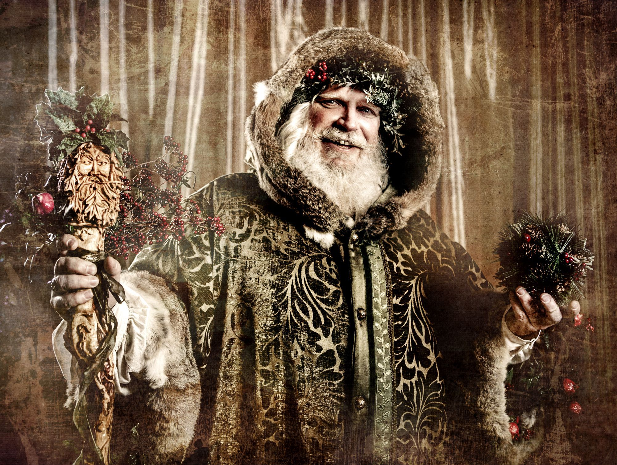 The Legend Of The Holly King And The Oak King Holly King Original Santa Claus Pagan
