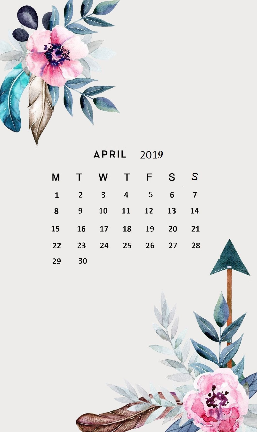 April 2019 Iphone Calendar Wallpaper Calendar Wallpaper Free
