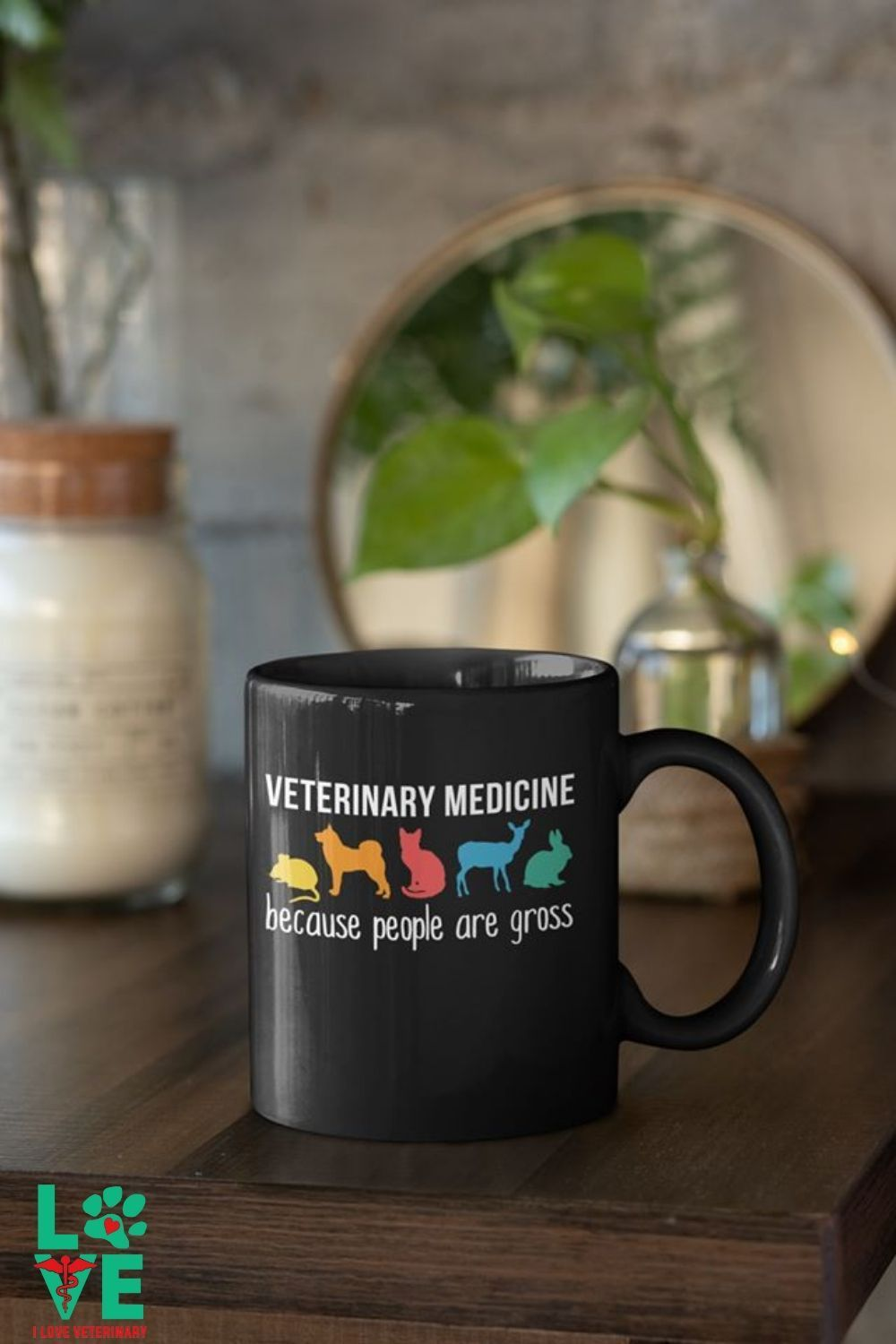 Veterinarian Because People are Gross Full Color Mug in