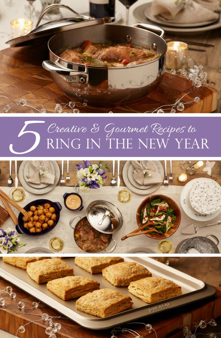 5 Creative & Gourmet Recipes to Ring in the New Year