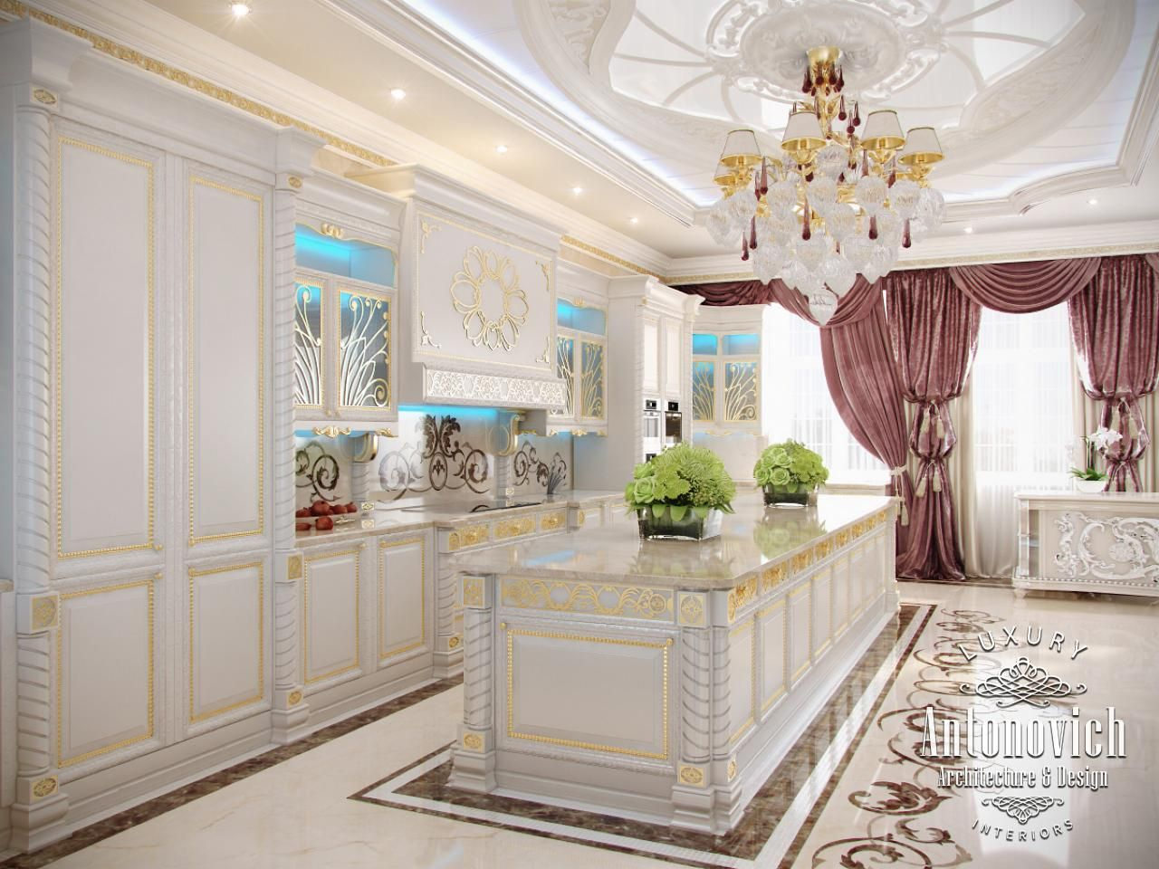Kitchen design in dubai kitchen with refined character for Kitchen design dubai