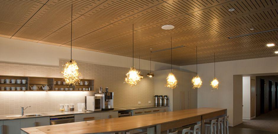 Supatile Drop In Acoutic Wood Veneer Ceiling Tiles
