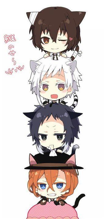 Photo of Anime Yaoi Fanart – Lưu Trữ – Bungou Stray Dogs: Dazai – Chuuya – Akutagawa – Atsushi