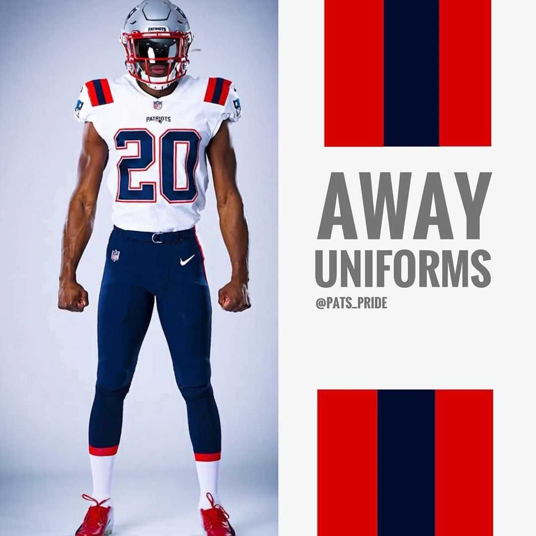 Wish They Were All White But These Are Still Clean In 2020 New England Patriots Football Patriots Football New England Patriots