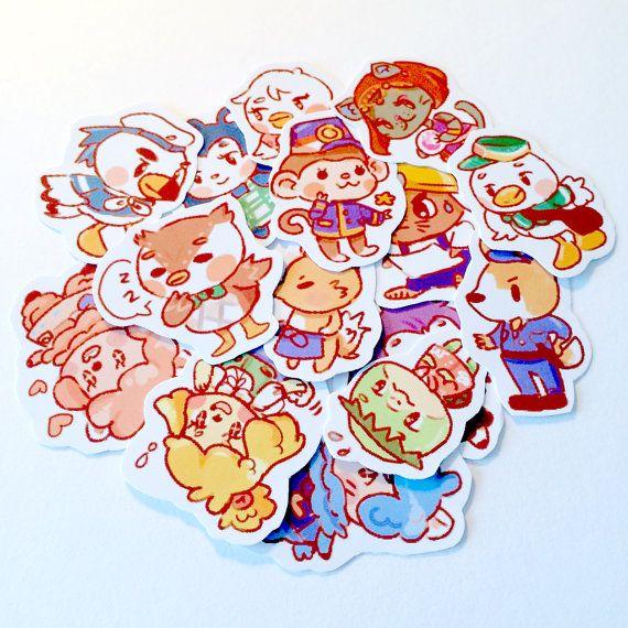 Sticker Sheet - Animal Crossing New Leaf Mix 1   Agustin y Me gustas