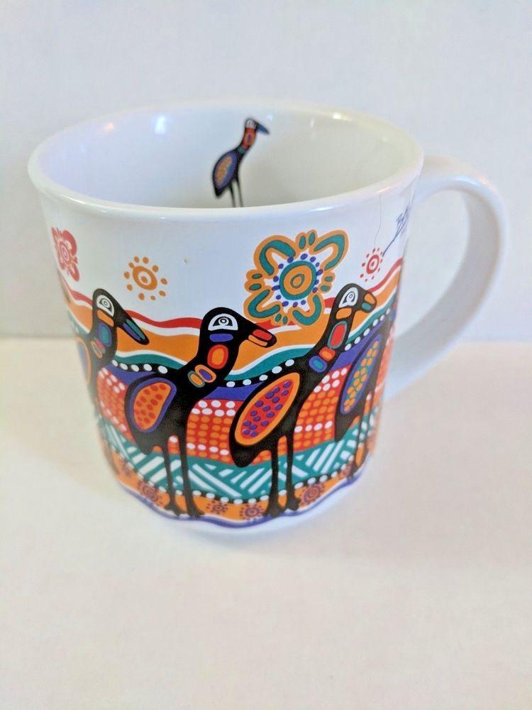Balarinji aboriginal art coffee mug australia bird