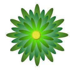 Flor Verde Dibujo Buscar Con Google Jardines Piscinas