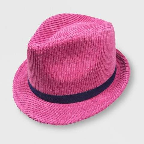 2d8c5a41e7d Baby Girls  Corduroy Fedora Pink 12-24M  Crown Corduroy Height ...