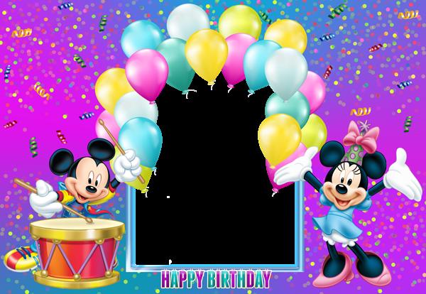 Happy Birthday Mickey Mouse Transparent Kids Frame | Disney clip