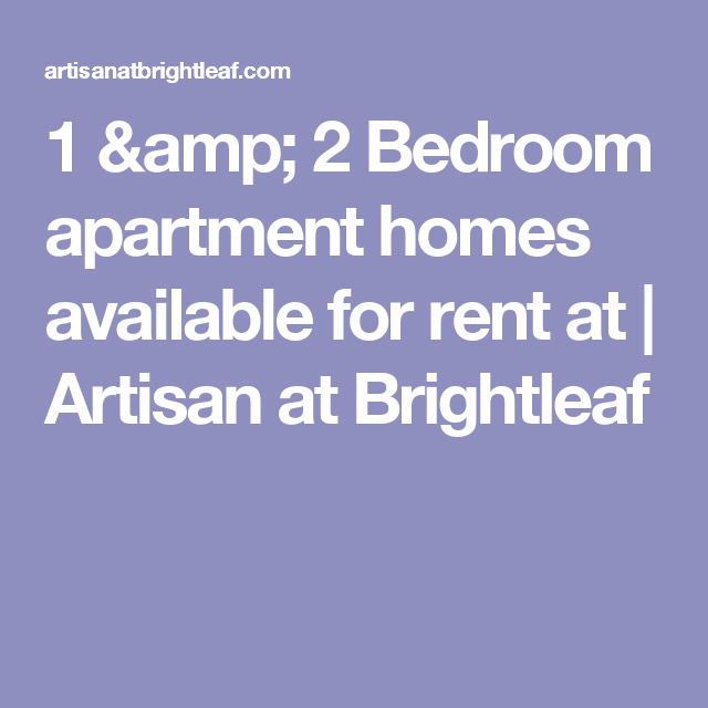 1 & 2 Bedroom Apartment Homes Available For Rent At