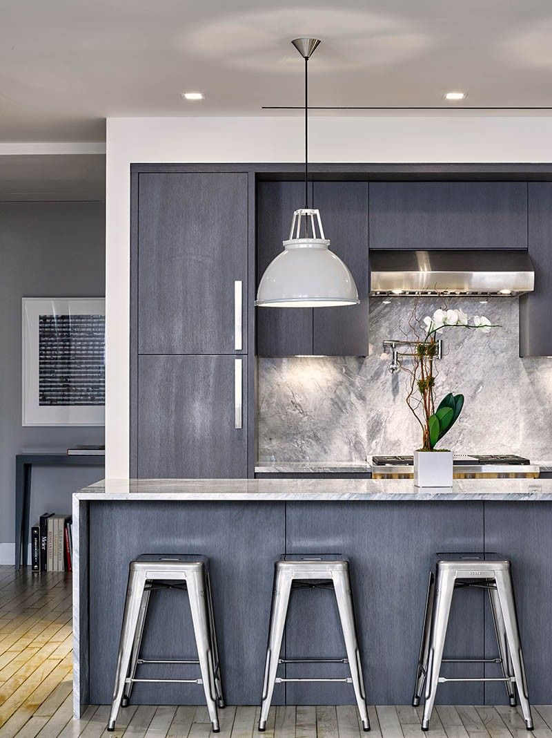 Palette Profile A Kitchen With Deep Greys Quartzite And Brushed Nickel Contemporary Kitchen Design Contemporary Style Kitchen Modern Grey Kitchen