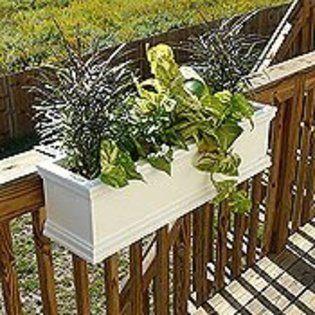 Adjustable Railing Planters For Decks From Sears Com Balcony