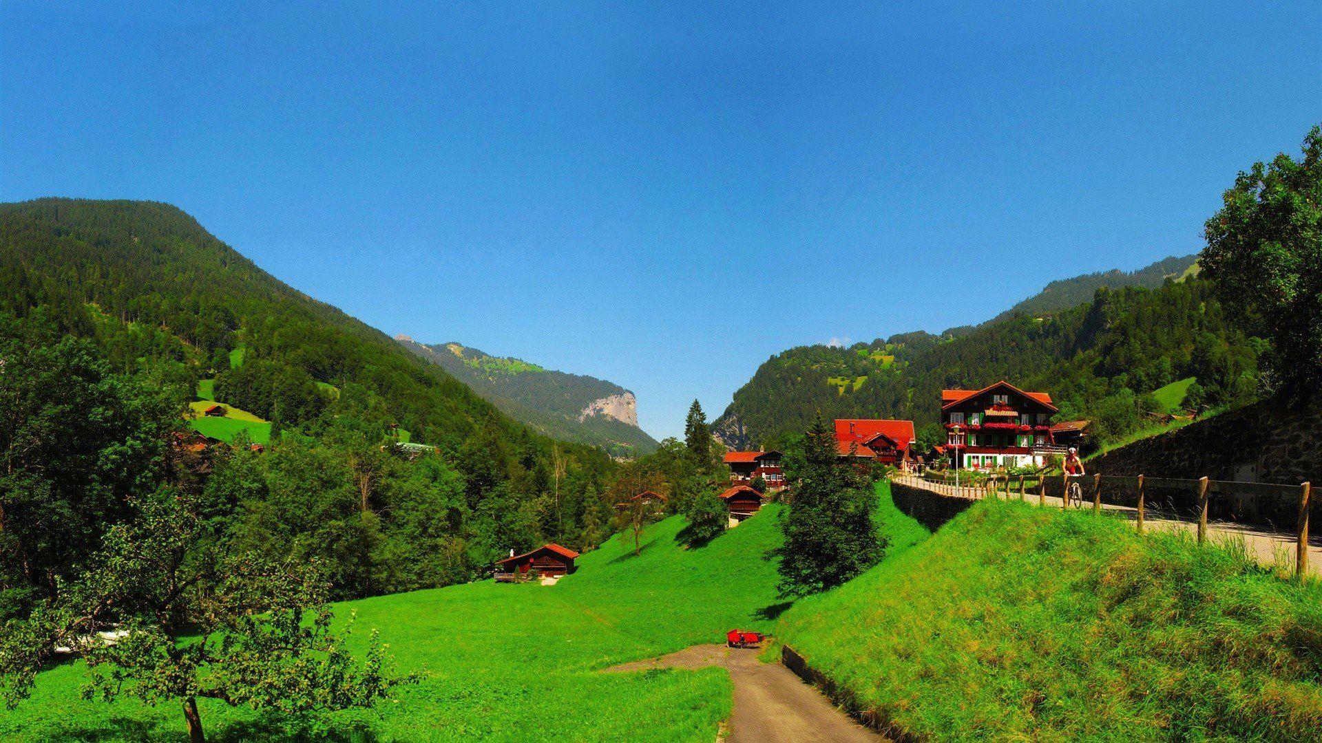 Switzerland Landscape Wallpaper Bing Images Landscape Wallpaper Landscape Scenery