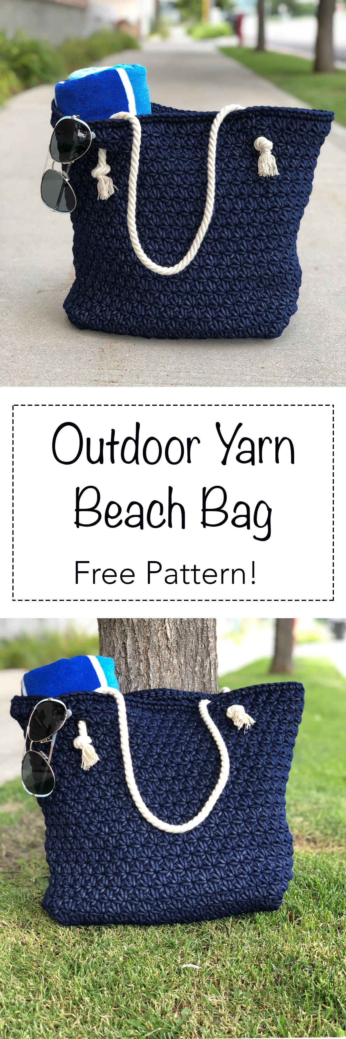 Beach bag made with Bernat Outdoor Yarn! | crochet | Pinterest ...