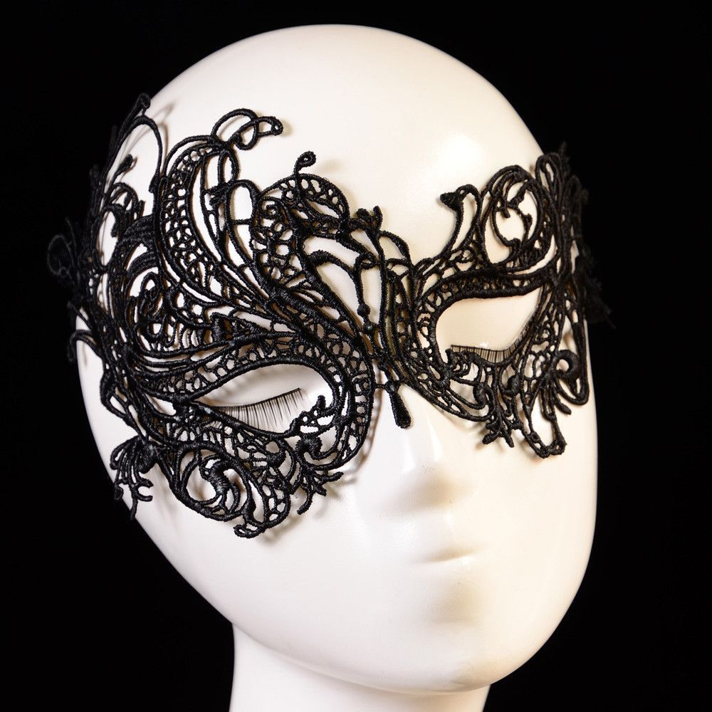 Women Lady Colorful Crochet Lace Costume Party Fancy Dance Ball Eye Face Mask