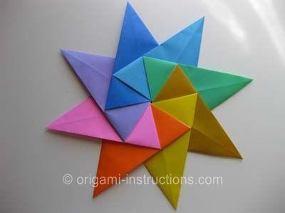 Photo of Origami Modularer 8-Punkt-Stern. Einfacher als ich dachte. Dies wird ein …