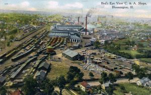 Chicago Alton Railroad S Yards Shops And Roundhouse In Bloomington Il Bloomington Chicago History Alton
