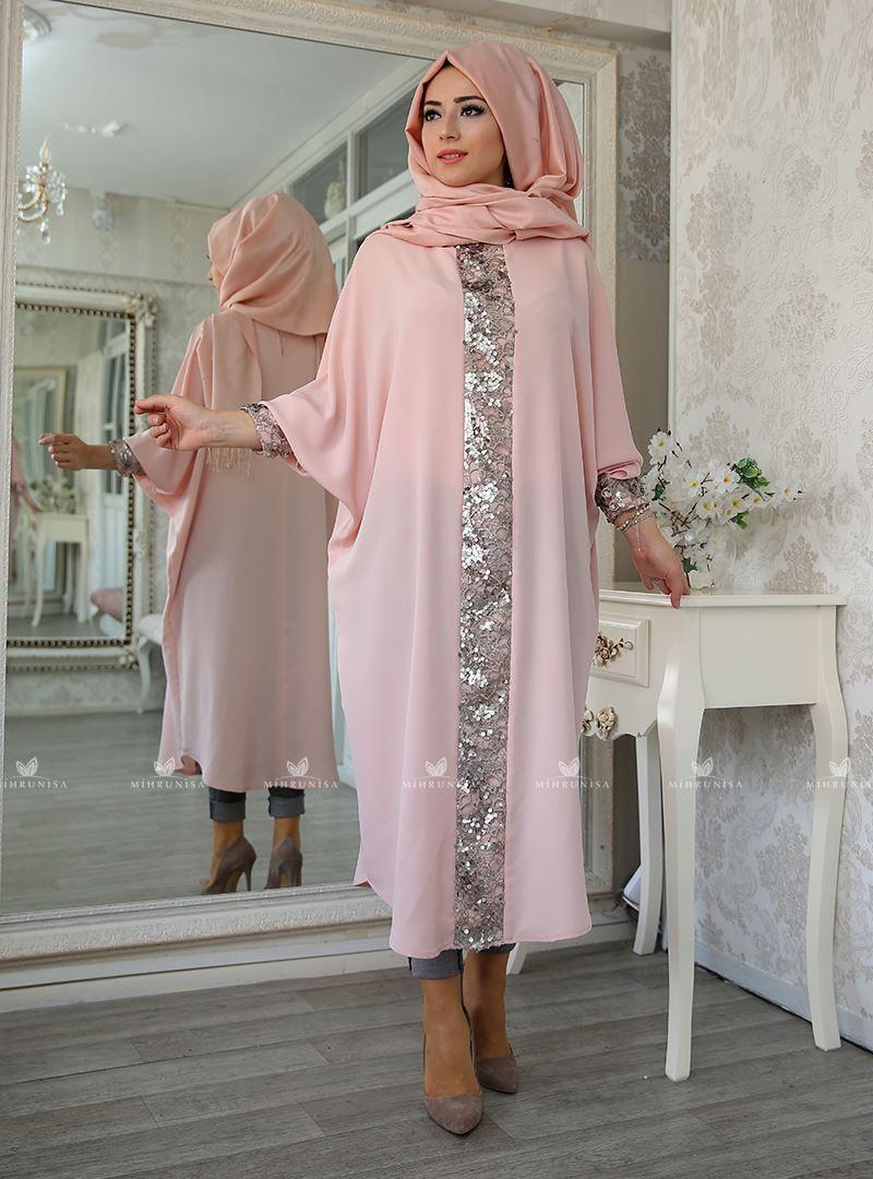 Elisa Ferace Tunik Pudra Lefzen Kadin Giyim Abaya Modasi Giyim