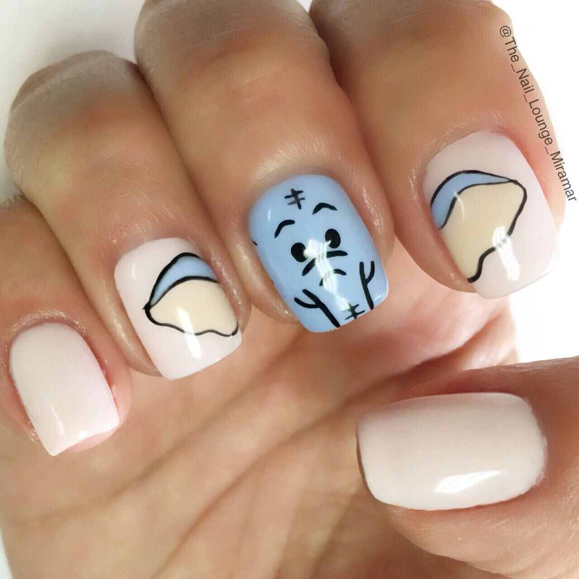 Adorable Nail Art: Cute Baby Shower Elephant Nail Art Design