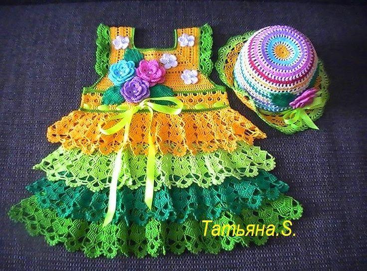 dress-free-pattern.jpg 736×544 pixels | vestidos de niñás á crochet ...